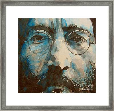 I Was The Dreamweaver Framed Print by Paul Lovering