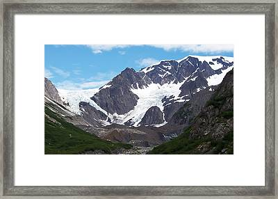 Framed Print featuring the photograph Ice And Snow by Aimee L Maher Photography and Art Visit ALMGallerydotcom