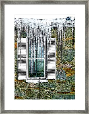 Ice By The Window Framed Print