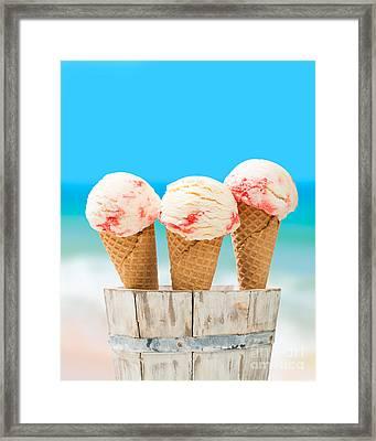 Ice Creams Framed Print by Amanda Elwell