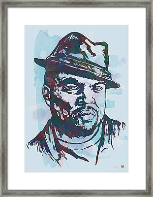 Ice Cube Pop Art Etching Poster Framed Print