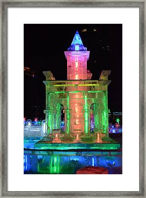 Ice Sculpture Framed Print by Brett Geyer