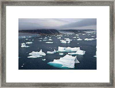 Icebergs, Cape York, Greenland Framed Print by Daisy Gilardini