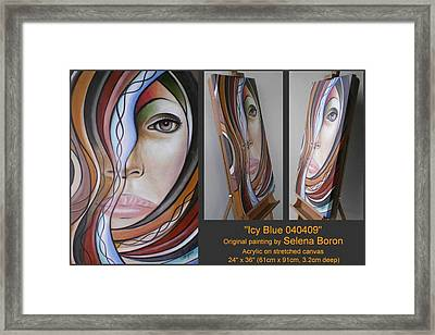 Framed Print featuring the painting Icy Blue 040409 by Selena Boron