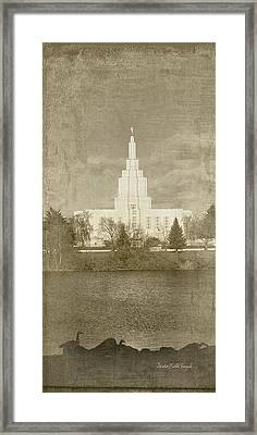 Idaho Falls Temple Framed Print by Ramona Murdock
