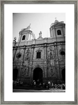 Iglesia De Santo Domingo Santiago Chile Framed Print by Joe Fox