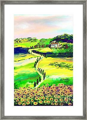 Il Casale Framed Print by Loredana Messina