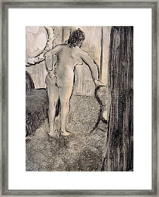 Illustration From La Maison Tellier By Guy De Maupassant Framed Print by Edgar Degas