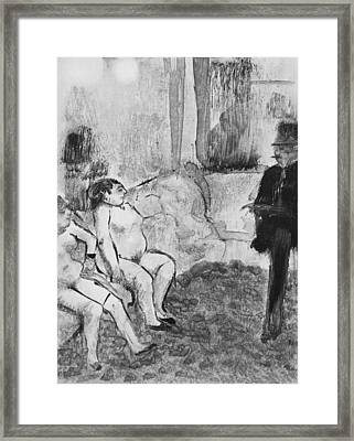 Illustration From La Maison Tellier Framed Print