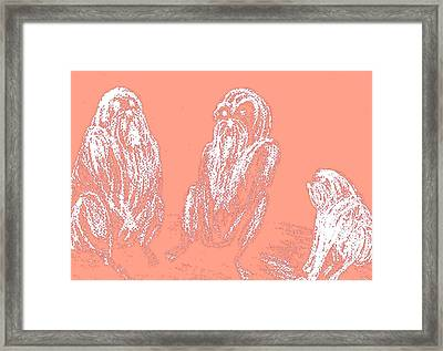 when we have an important meeting I am the little person in the corner  Framed Print