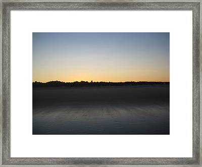 In The Shadow Of The Dunes Framed Print