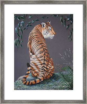 Framed Print featuring the painting In The Stillness Of The Night by DiDi Higginbotham
