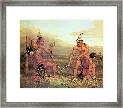 Indian Ball Game Framed Print