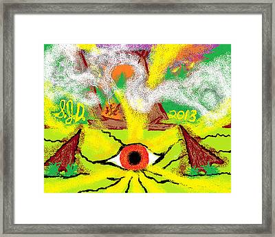 Indian Camp Framed Print by Joe Dillon