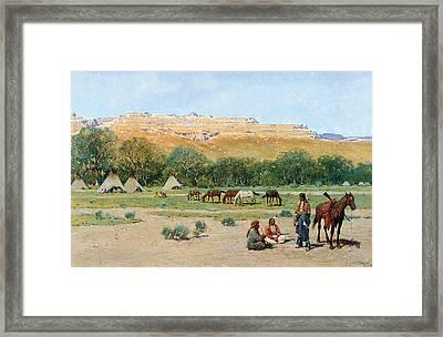 Indian Encampment Framed Print