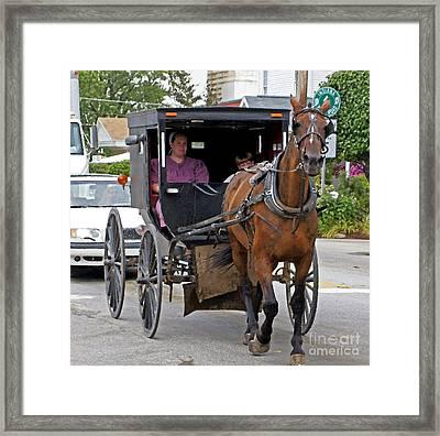 Indiana Traffic Framed Print