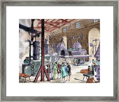 Industrial Revolution Framed Print by Prisma Archivo