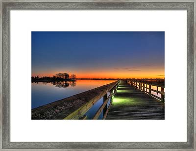 Inlet Sunrise Framed Print