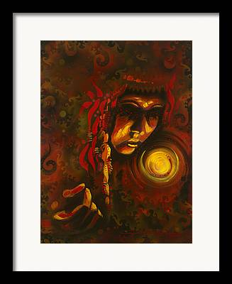 Portrait Of Indian Woman Framed Prints