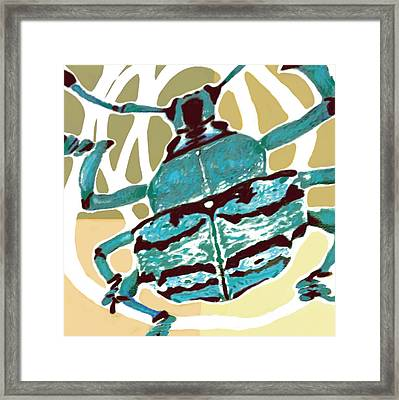 Insect Stylised Pop Art Drawing Potrait Poser Framed Print by Kim Wang