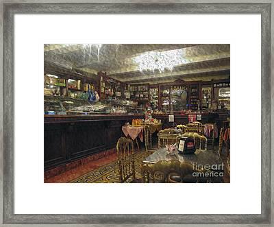 Inside A Cafe In Italy Framed Print