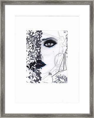 Framed Print featuring the drawing Insight by Desline Vitto