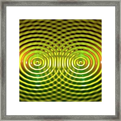 Interference Patterns Framed Print by Russell Kightley