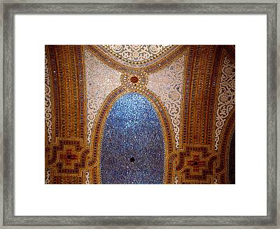 Interior Detail Of Tiffany Dome Framed Print by Panoramic Images