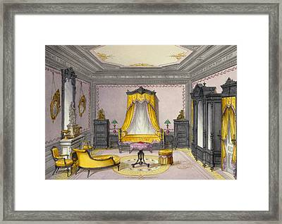Interior Showing Furniture Framed Print by French School