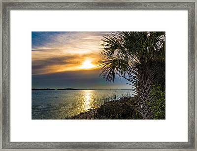 Framed Print featuring the photograph Intracoastal Sunrise by Frank Bright