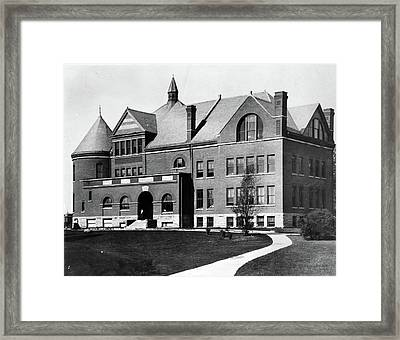 Framed Print featuring the photograph Iowa State University, C1900 by Granger