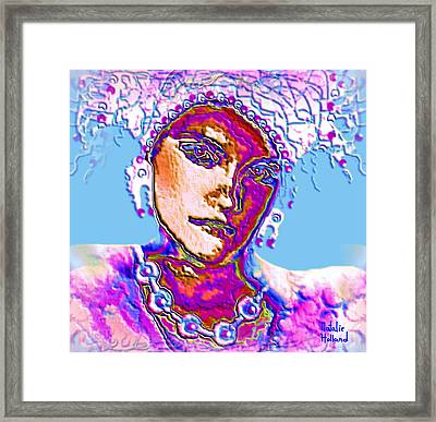 Iris Framed Print by Natalie Holland