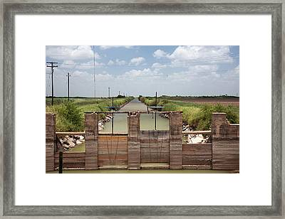 Irrigation Canal Framed Print by Jim West