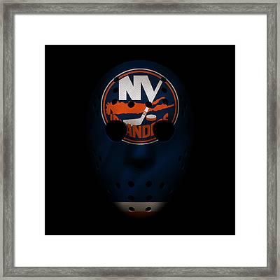 Islanders Jersey Mask Framed Print