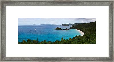 Islands In The Sea, Trunk Bay, Virgin Framed Print