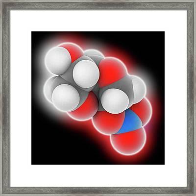 Isosorbide Mononitrate Drug Molecule Framed Print by Laguna Design