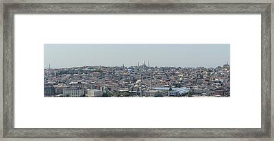Istanbul Turkey Cityscape Framed Print by Brandon Bourdages