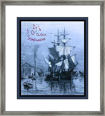It's 5 O'clock Somewhere Framed Print by John Stephens