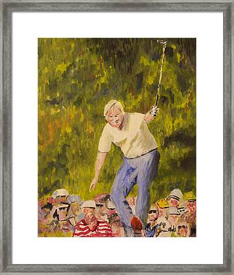 Jack At The Masters Framed Print