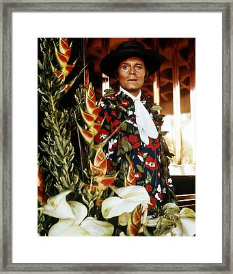 Jack Lord In Hawaii Five-o  Framed Print by Silver Screen