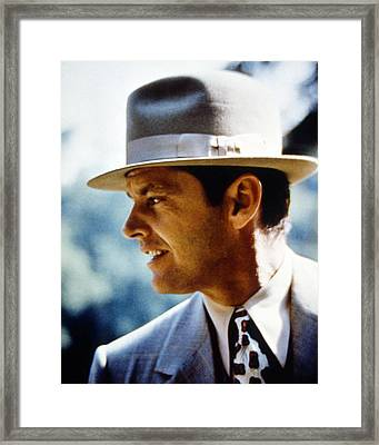 Jack Nicholson In Chinatown  Framed Print by Silver Screen