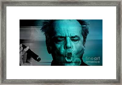Jack Nicholson Framed Print by Marvin Blaine