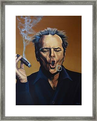 Jack Nicholson Painting Framed Print by Paul Meijering