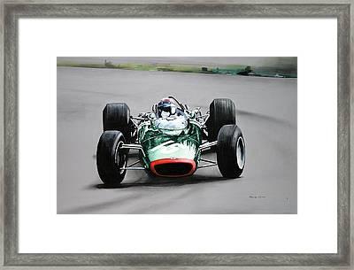 Jackie Stewart  Brm Framed Print