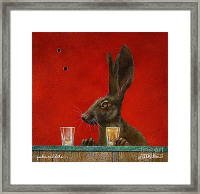 Jacks And Shots... Framed Print by Will Bullas
