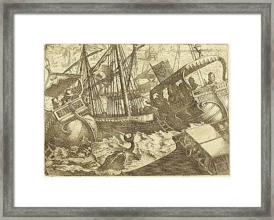 Jacques Callot French, 1592 - 1635, Storm Off The Coast Framed Print