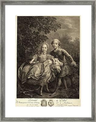 Jacques-firmin Beauvarlet After François-hubert Drouais Framed Print