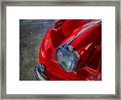 Jaguar Xk 140 Framed Print by SM Shahrokni