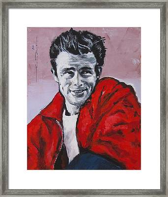James Dean Without A Cause Framed Print by Eric Dee