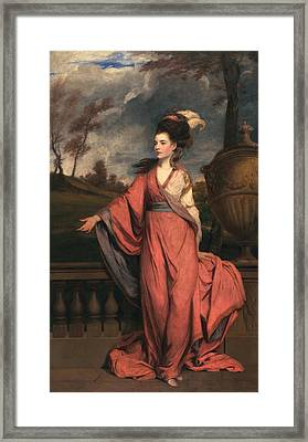 Jane Fleming, Later Countess Framed Print by Sir Joshua Reynolds